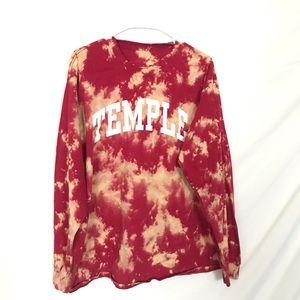 Temple University tiedye T-shirt